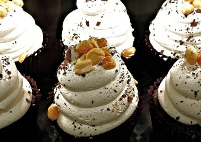 Chocolate Whipped Cream Peanuts Chocolate Cupcake